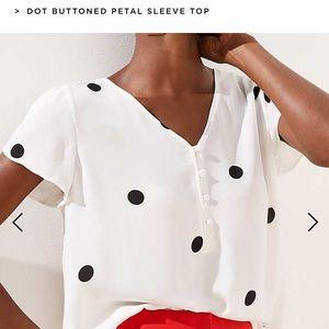 Women's Black and White Polka Dot Top
